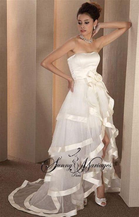 robe de mariee moderne et originale robe de mariee bustier longue et courte deux en un robe de mariee originale robe de mariee