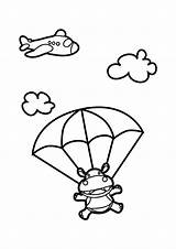 Skydiving Hippo Coloring Pages Nursery Cartoon Drawing Netart Church Drawings Snoopy Animals Semi Animal Google Indoor Applique Mammals Aquatic Mostly sketch template