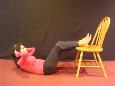chair crunch for a flat toned stomach