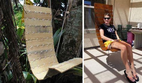 siege en palette tuto un fauteuil suspendu diy fabriquer un siège