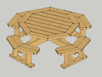 project wood working small octagon picnic table plans diy