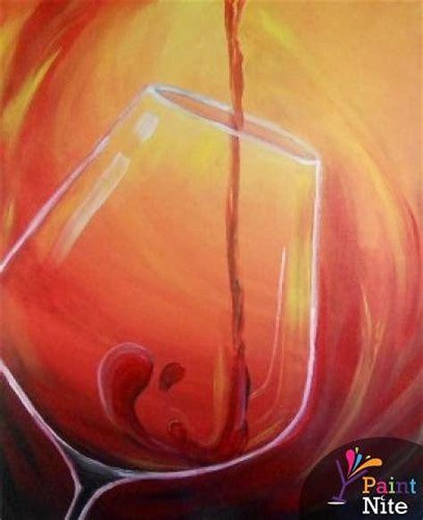 paint nite red wine