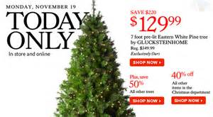 the bay 1 day sale today 130 glucksteinhome 7ft tree 50 all other trees 40 in