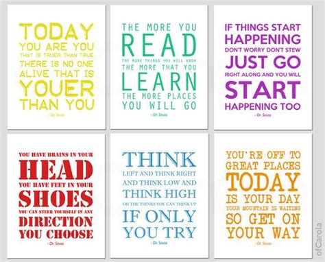 dr seuss quotes wall art personalized prints