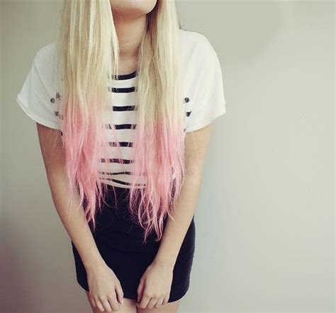 Baby Pink Tips On Platinum Blonde Body Love ♥ Hair