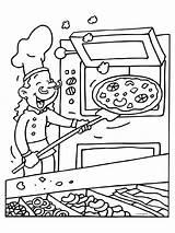 Restaurant Kleurplaat Oven Pizzabakker Mondriaan Knutselen Knutselpagina Coloring Mewarna07 Kleurplaten Template Pixel 1371 sketch template