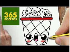 como dibujar kawaii 365 bocetos COMO DIBUJAR PAPELERA