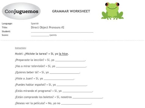 5th grade 187 direct and indirect objects worksheets 5th