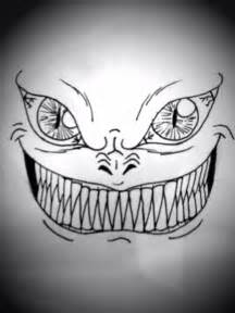 Creepy Scary Face Drawings
