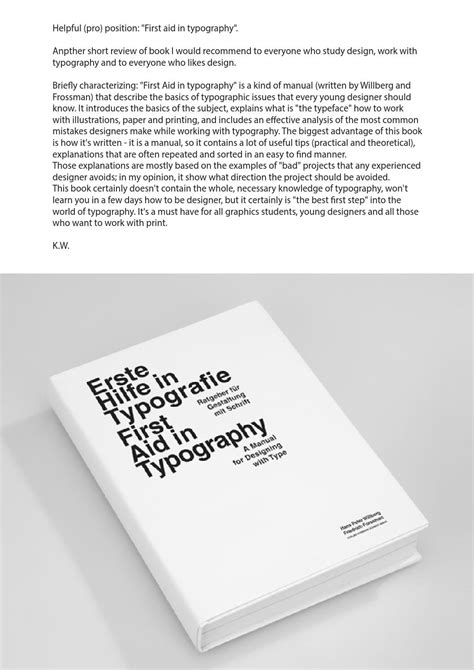 First aid in typography by Kasia Wala - Issuu