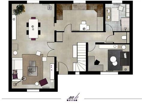 plan 3d cuisine aménagement maison mh deco le