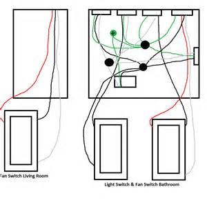 Way Bathroom Fan Wiring Help Doityourself