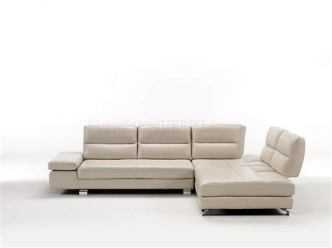 pure leather sectional sofas gemma 7768 sectional in pearl grey pure leather by idp italia