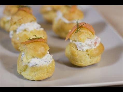 recette cuisine legere petits choux apéritifs crème de saumon fumé et d 39 aneth