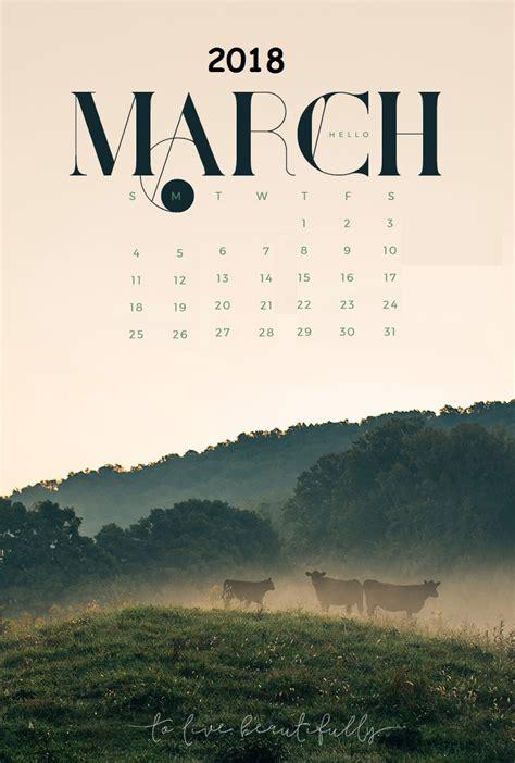 March 2018 Iphone Wallpaper Calendar  Calendar 2018