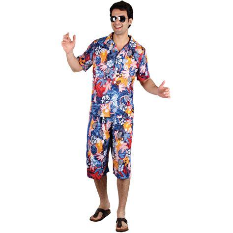 Tropical Hawaiian Theme Party Guy Fancy Dress Costume Ebay