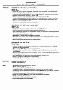 Client Tech Supt Specialist Resume Samples