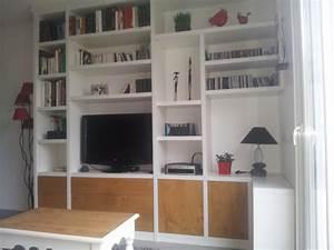 Meuble Bibliothèque Bois : meuble bibliotheque pas cher ~ Teatrodelosmanantiales.com Idées de Décoration