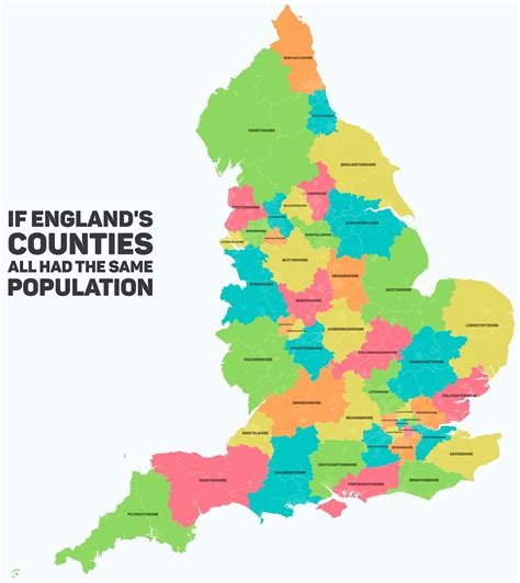 englands counties     population vivid maps