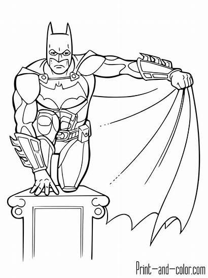 Batman Coloring Pages Sheets Printable Knight Dark