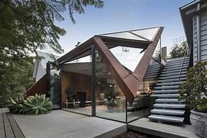 maison avec toit en verre la feuille comme l39appelle With maison toit en verre