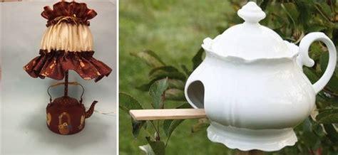 inspiring ideas    reuse teacups  teapots
