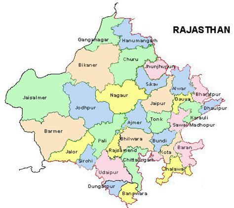rajasthan map rajasthan district map district map