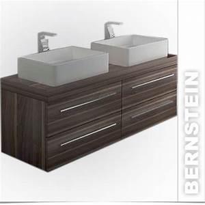 Badmöbel Mit Doppelwaschbecken : badm bel set doppelwaschbecken waschtisch badezimmerm bel spiegelschrank walnuss ebay ~ Indierocktalk.com Haus und Dekorationen