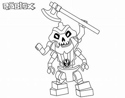 Roblox Coloring Pages Printable Lego Ninjago Skeleton