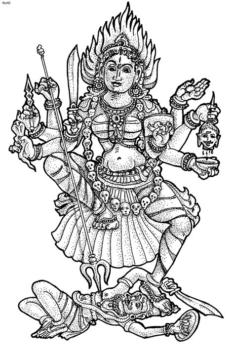 hers coloring book - Google Search | Hindu art, Kali goddess, Coloring pages