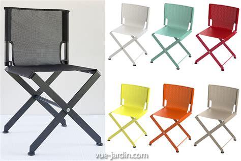 chaise de jardin grise chaise de jardin pliante design zephir de matire grise en
