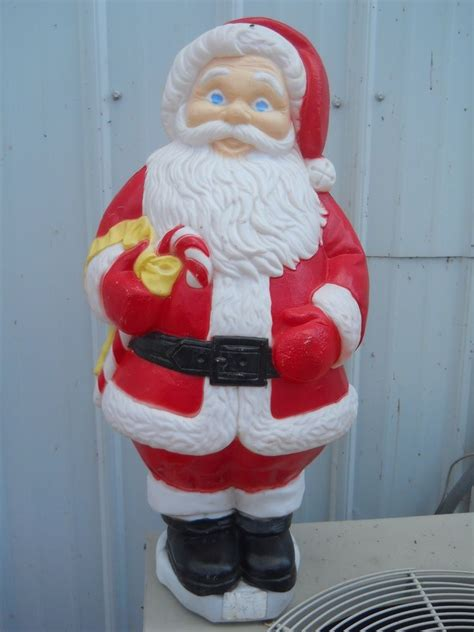 82 christmas blow mold yard decoration 31 quot santa claus plastic light up display ebay