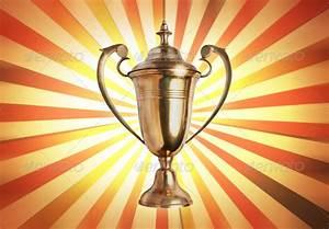 success concept , winner trophy on old antique vintage ...