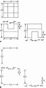 A  Typical Engineering Drawing With Dimensioning Lines And