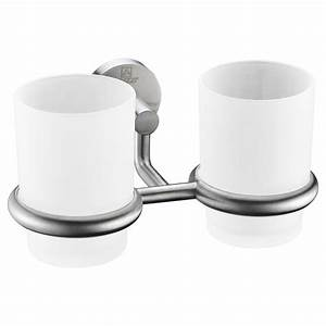 Caster Series 7 36 In  Double Toothbrush Holder In Brushed