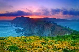 Wallpaper Point Reyes, Sunset, Coast, California, Nature