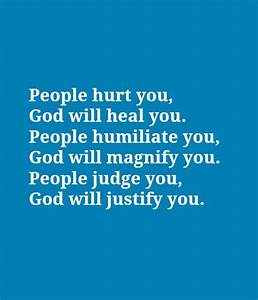 People hurt you, God will heal you | Nice Picture Quotes