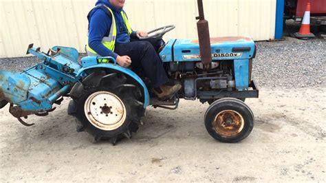 Mitsubishi Compact Tractor by Mitsubishi D1500 2wd Compact Tractor C W 4ft Rotavator