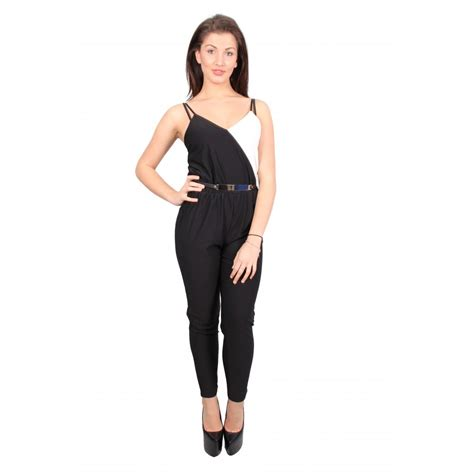 black fitted jumpsuit chelsea black and white fitted jumpsuit parisia