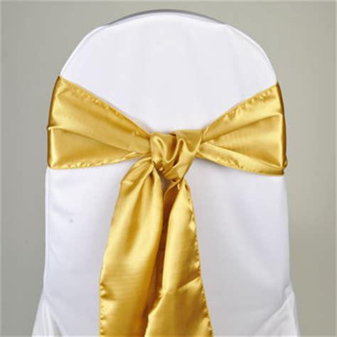 gold satin chair sash event source