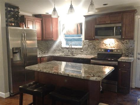 New Azul Aran Granite Kitchen