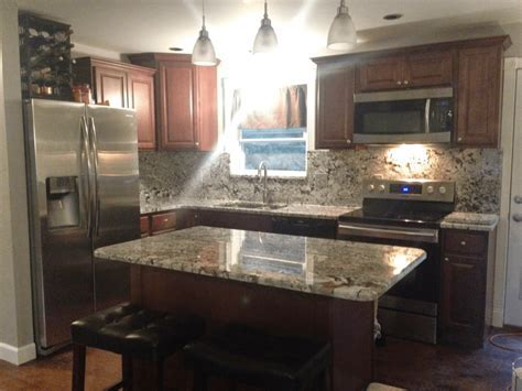New Azul Aran Granite Kitchen   Project Details And Pictures