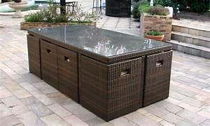 Salon Jardin Encastrable : salon de jardin 6 ou 8 places groupon shopping ~ Maxctalentgroup.com Avis de Voitures