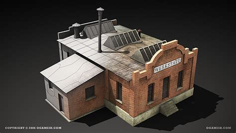 Wwii Rts Game Lowpoly Building 3d Models On Behance
