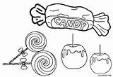 Candy Coloring Printable Sweets Cool2bkids Halloween Candies Cane Felt Cotton Cupcake Bus Baseball Ice Cream Crafts sketch template