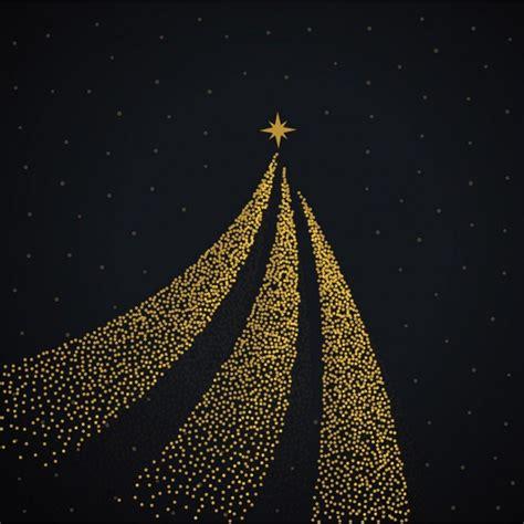 fondo negro con un 225 rbol de navidad dorado descargar