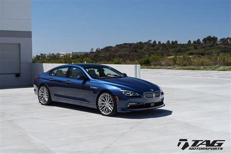 Blue Metallic Alpina B6 Adv100 Forged Wheels