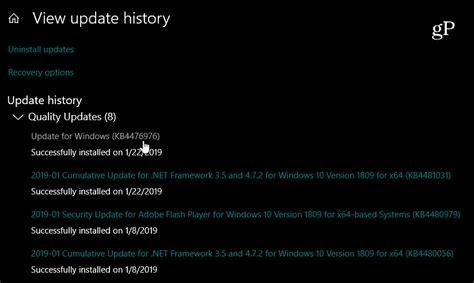 how to uninstall a windows 10 cumulative update