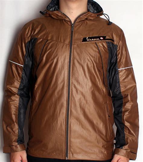 jual jaket motor pria adidas vespa warna coklat tua emas