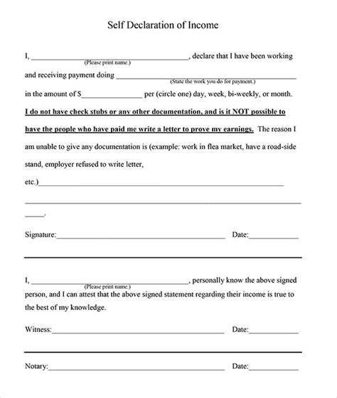 proof  income letter template   documents